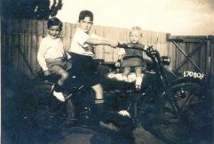 Father motor bike
